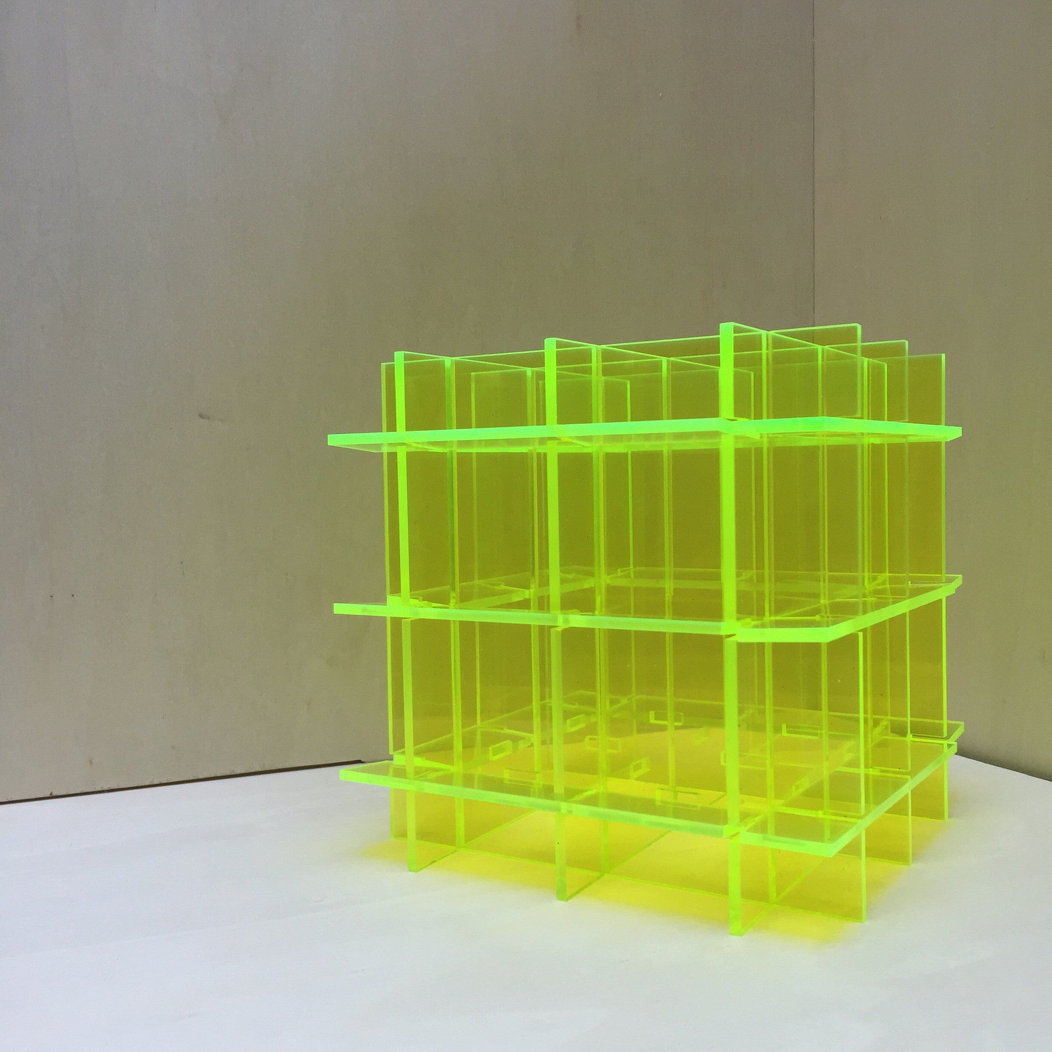 Fluorescent Grid Desk Organizer