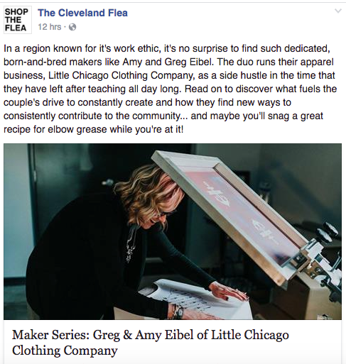 Our Feature in The Cleveland Flea Maker Series Blog