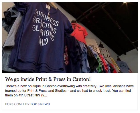 Print & Press featured on Fox 8 News Cleveland!