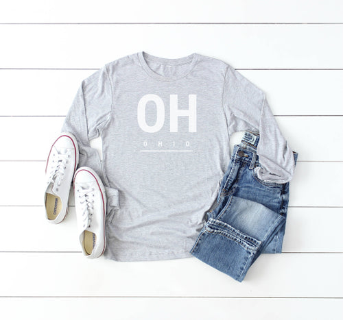 OH Long Sleeve Tee - Little Chicago Clothing Co.