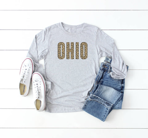 Animal Print Block Ohio Tee