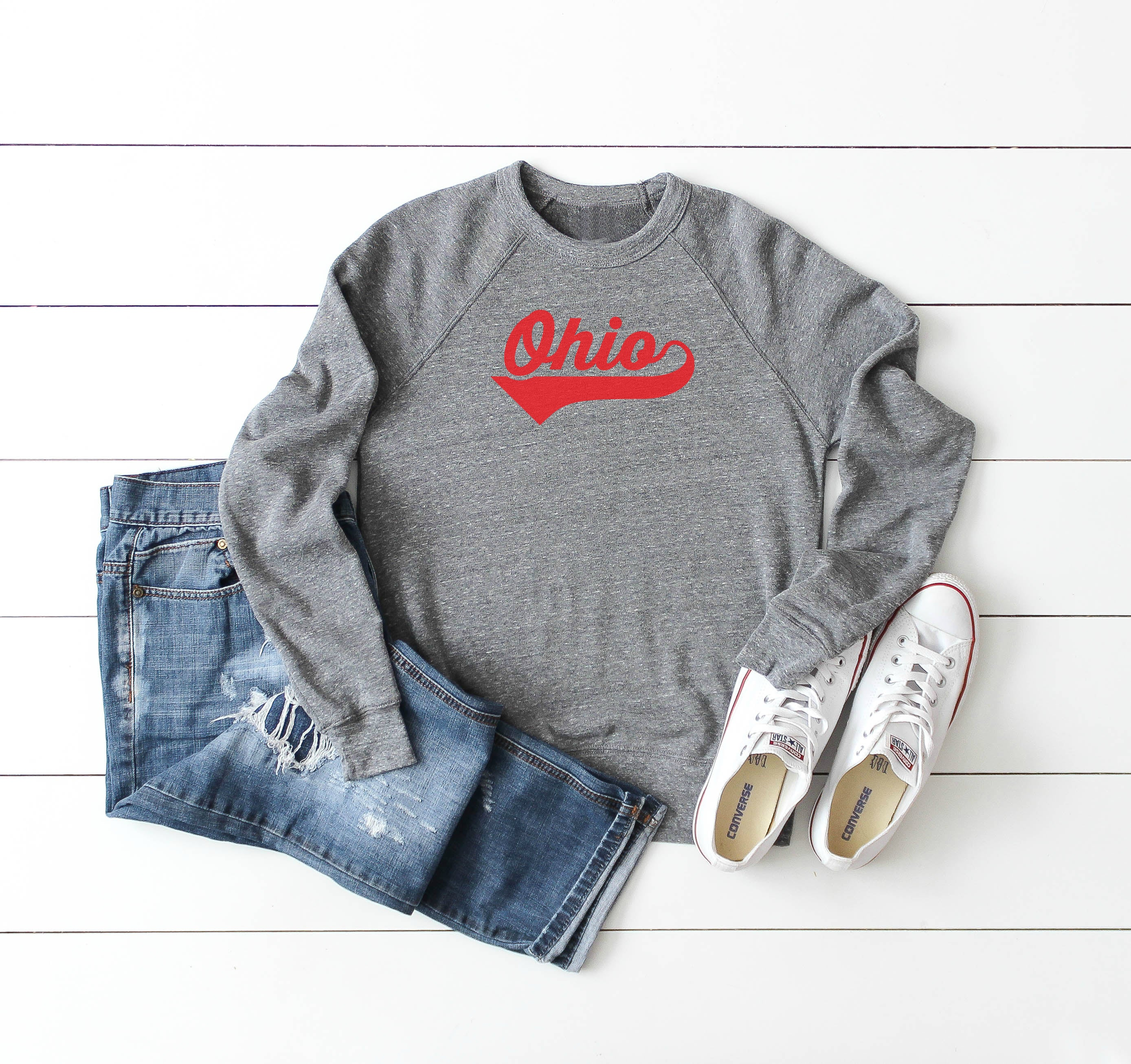 Athletic Script Ohio Crew Fleece - Little Chicago Clothing Co.