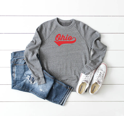 Heart Ohio Crop Fleece Pullover