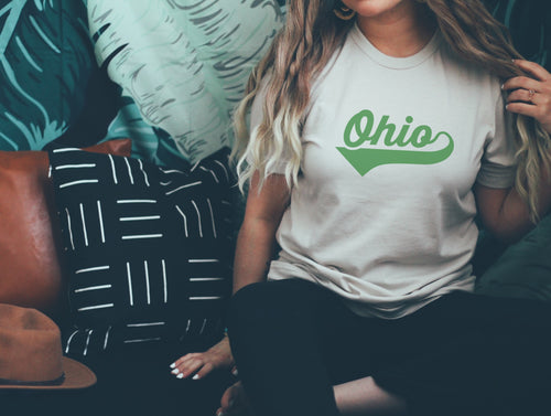 Athletic Script Ohio Tee - Little Chicago Clothing Co.