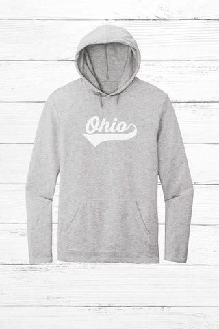 Colorful Ohio Pocket Print Lightweight Fleece Hoodie
