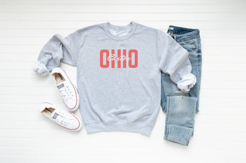 Colorful Ohio Crew Fleece