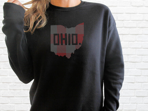 Buckeye Plaid Ohio Fleece Sweatshirt