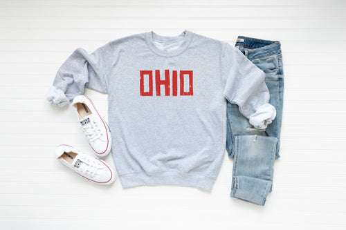 Brick Ohio Crew Fleece - Little Chicago Clothing Co.