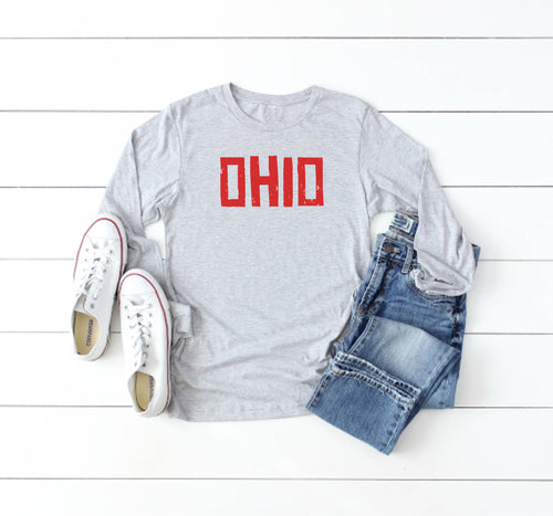 Brick Ohio Long Sleeve Tee - Little Chicago Clothing Co.