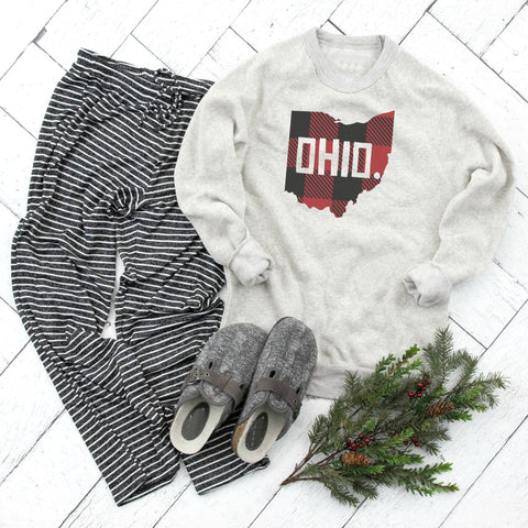 Heart Ohio Pocket Crop Fleece Pullover