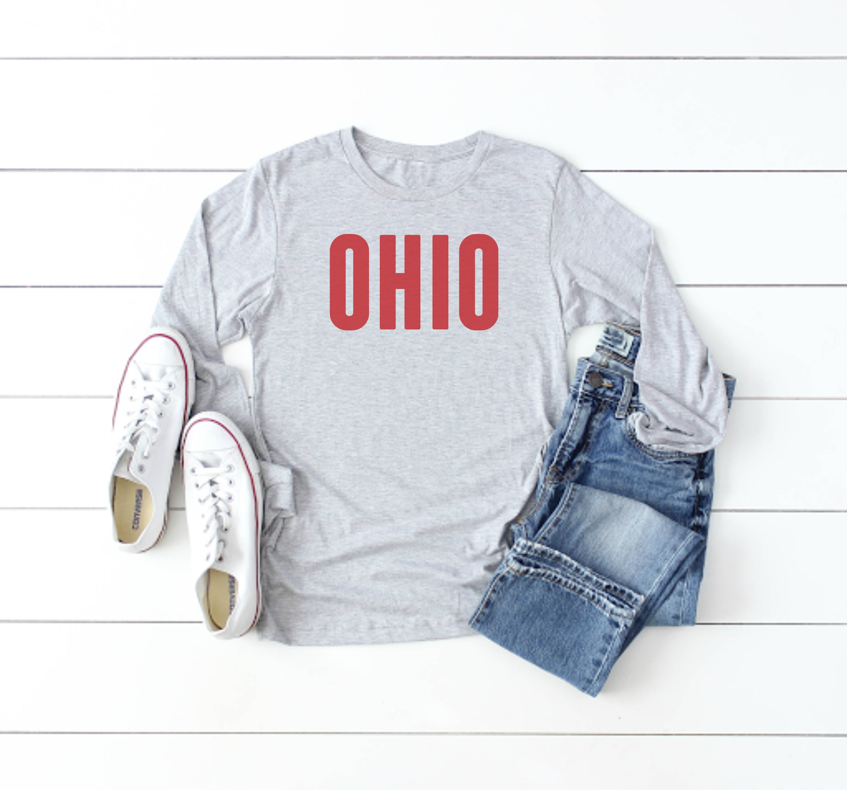 Caps Ohio Long Sleeve Tee - Little Chicago Clothing Co.