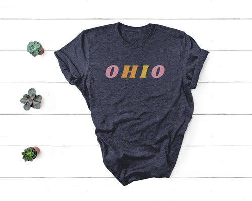 Colorful Ohio Tee - Little Chicago Clothing Co.