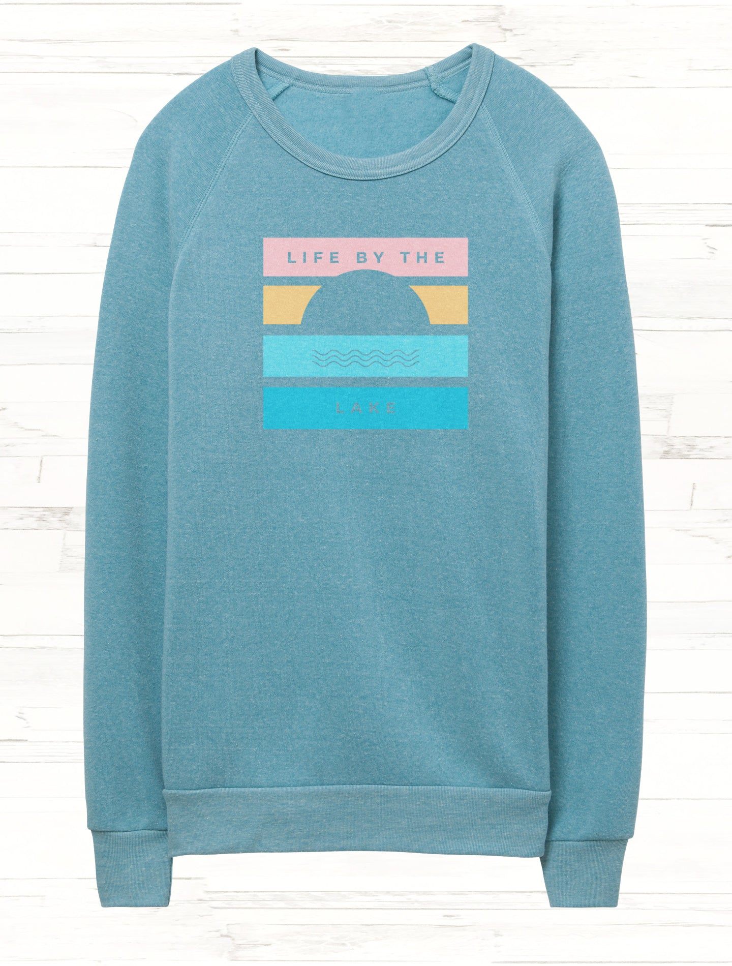 Life by the Lake Sunset Fleece Sweatshirt