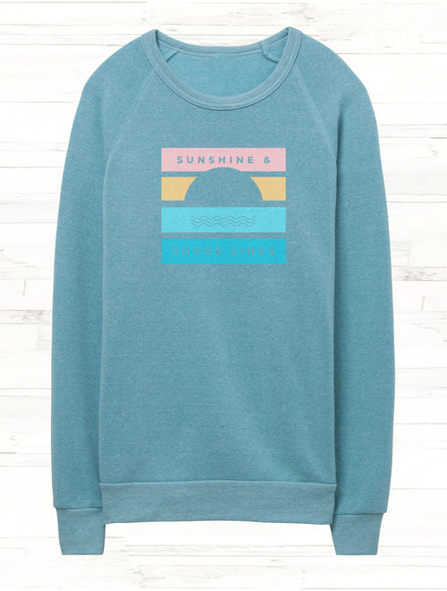 Sunshine & Shore Lines Fleece Sweatshirt