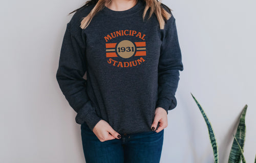Municipal Stadium Crew Fleece Sweatshirt