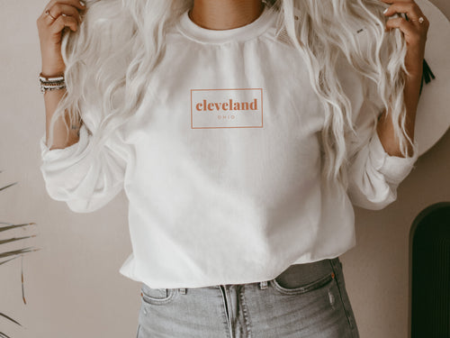 Cleveland Rectangle Crew Fleece Sweatshirt