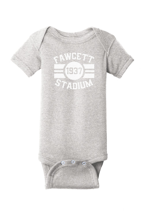 Fawcett Stadium Baby One Piece - Little Chicago Clothing Co.