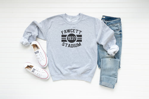 Fawcett Stadium Crew Fleece - Little Chicago Clothing Co.