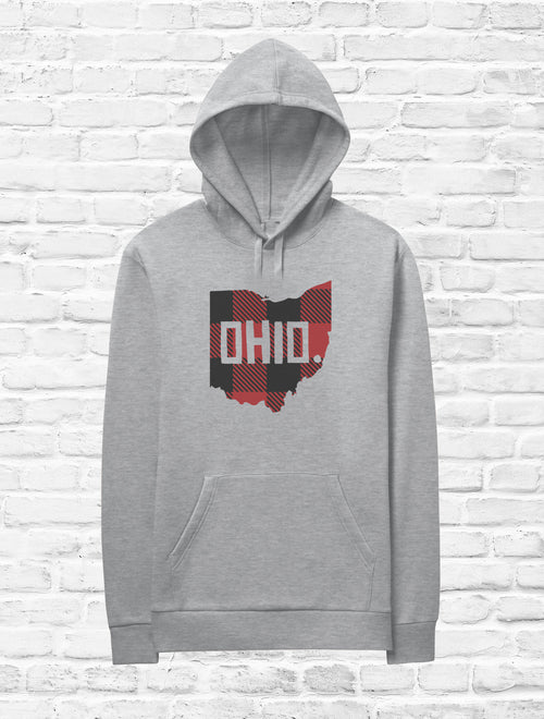 Buffalo Plaid Ohio Fleece Hoodie