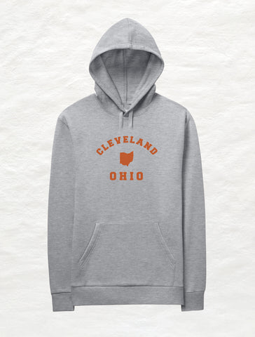 Buckeye Pattern Ohio Crossover Fleece Hoodie