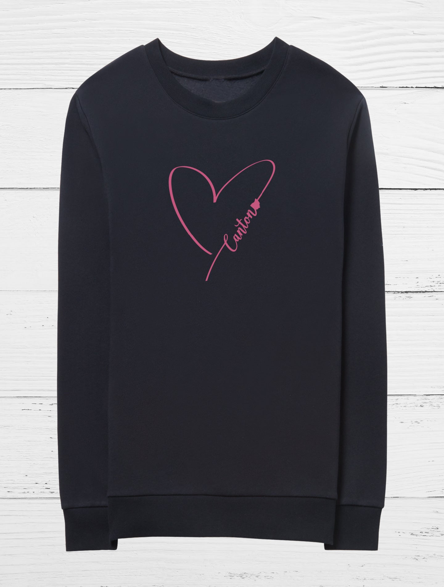 Heart Canton Crew Fleece