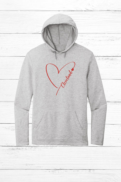 Heart Cleveland Jersey Hoodie