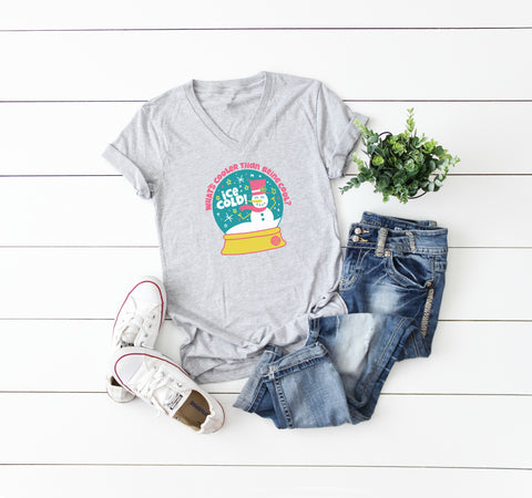 Heart Canton Lady V-Neck Tee