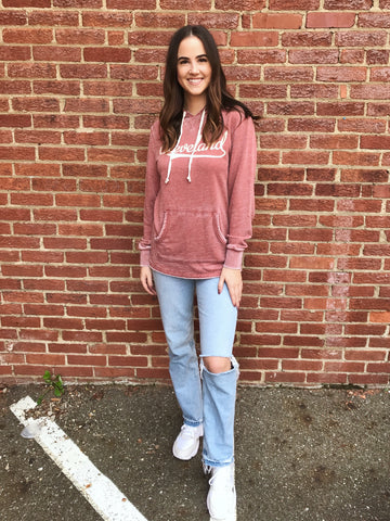 Brick Ohio Lady Fleece Double Hoodie