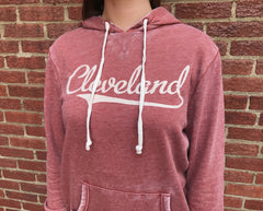 Retro Cleveland Vintage Terry Hoodie - Little Chicago Clothing Co.