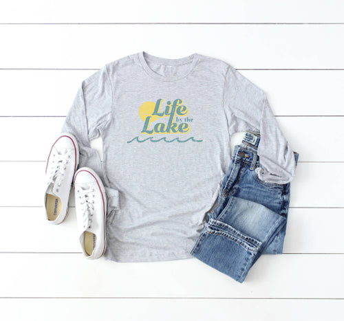 Life by the Lake Long Sleeve Tee - Little Chicago Clothing Co.