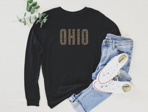 Buffalo Plaid Ohio Long Sleeve Tee