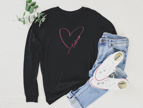 Heart Canton Long Sleeve Tee