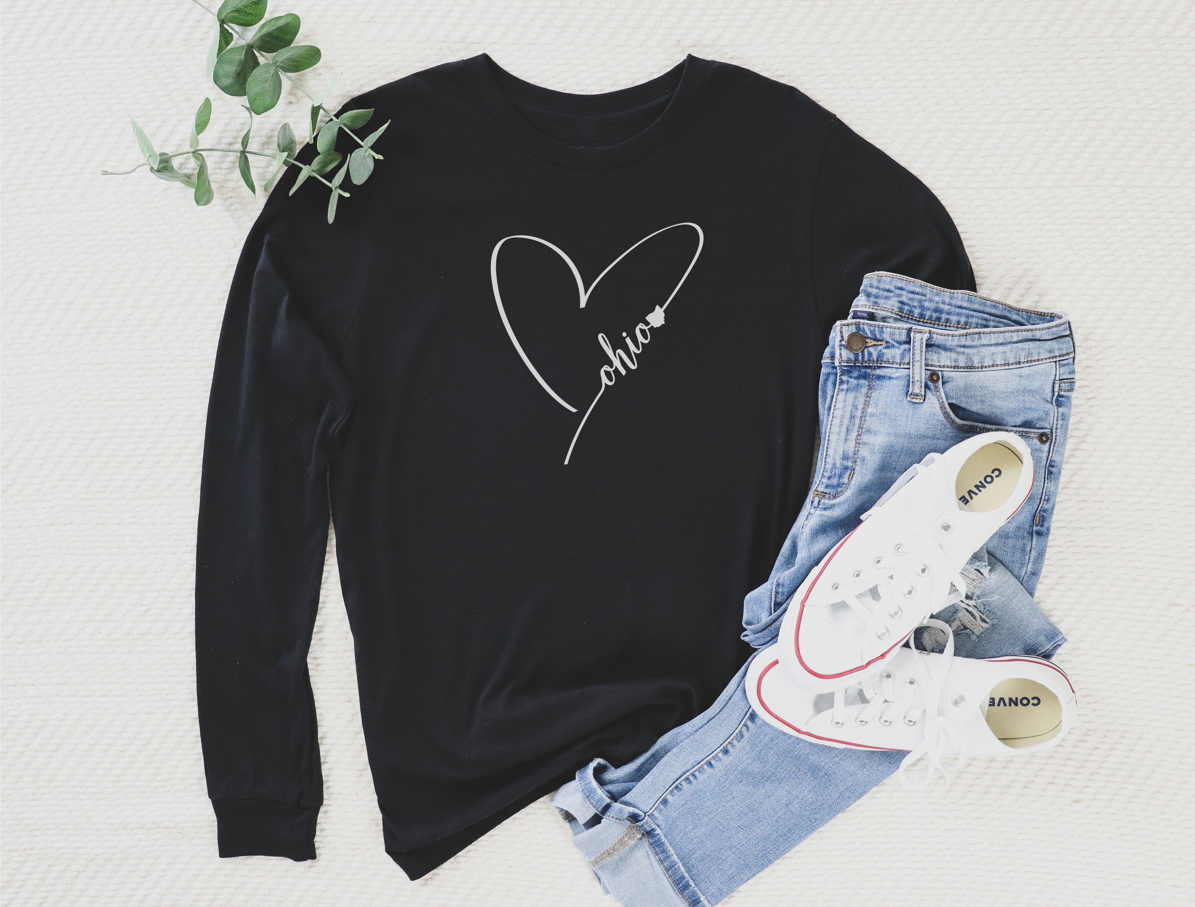 Heart Ohio Long Sleeve Tee