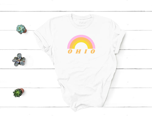 Ohio Rainbow Tee - Little Chicago Clothing Co.