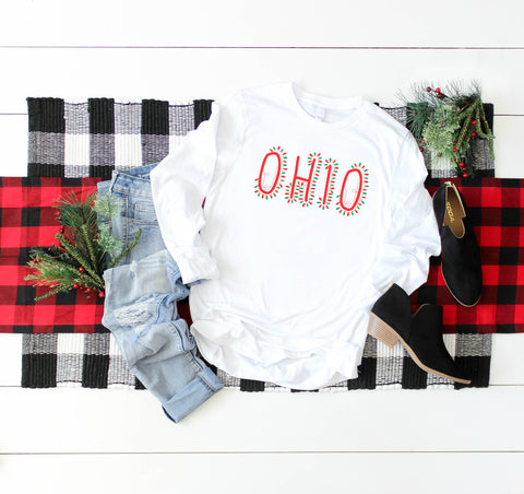 Ohio String Lights Tee