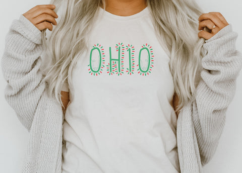 Athletic Script Ohio Lady V-Neck Tee