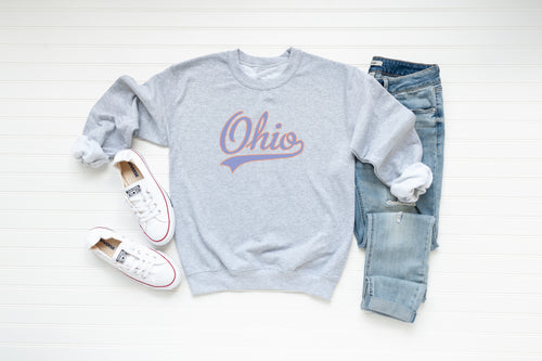 Retro Ohio Crew Fleece - Little Chicago Clothing Co.