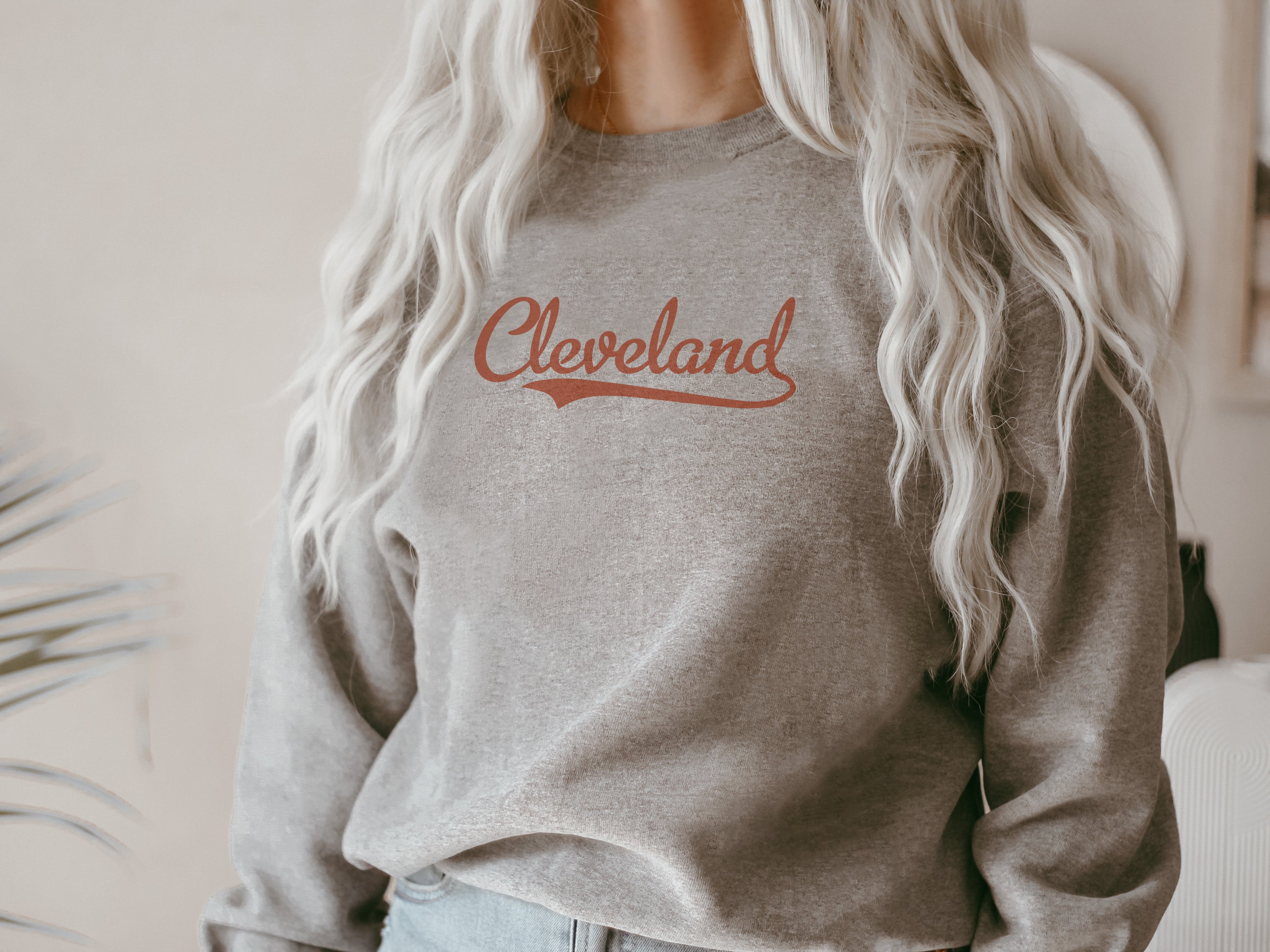 Retro Cleveland Crew Fleece Sweatshirt
