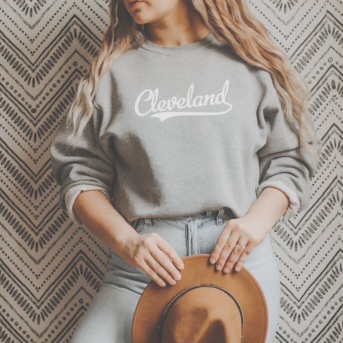 Retro Cleveland Crew Fleece - Little Chicago Clothing Co.