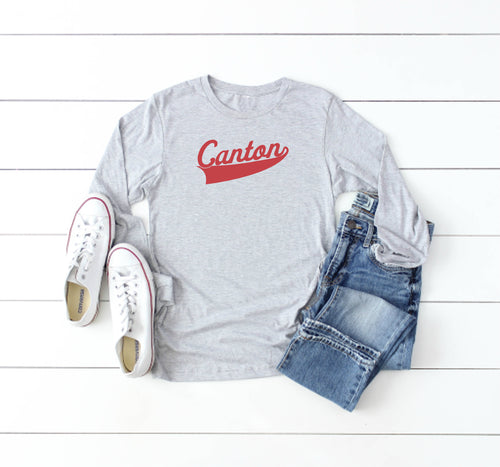 Script Canton Long Sleeve Tee - Little Chicago Clothing Co.