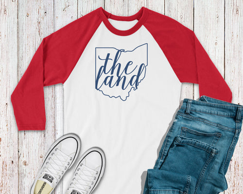 The Land Script Baseball Tee - Little Chicago Clothing Co.