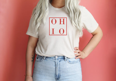 Heart Ohio Lady V-Neck Tee