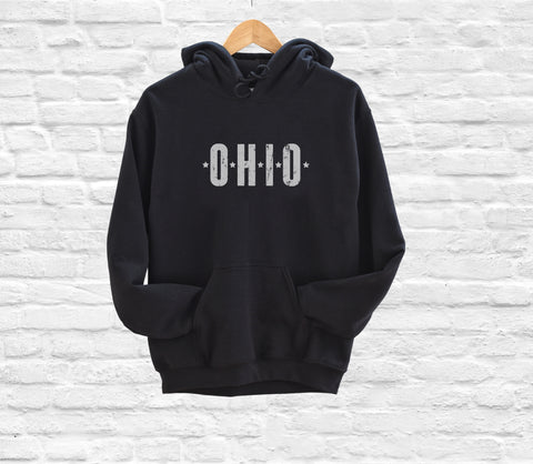 Heart Ohio Fleece Hoodie