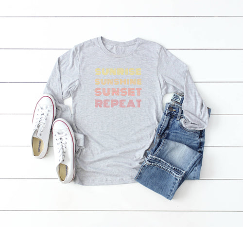 Sunrise Sunshine Sunset Long Sleeve Tee