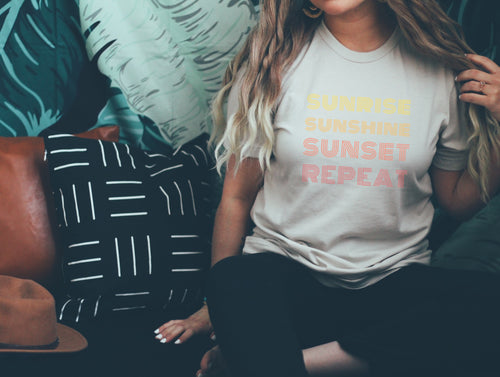 Sunrise Sunshine Sunset Repeat Tee - Little Chicago Clothing Co.