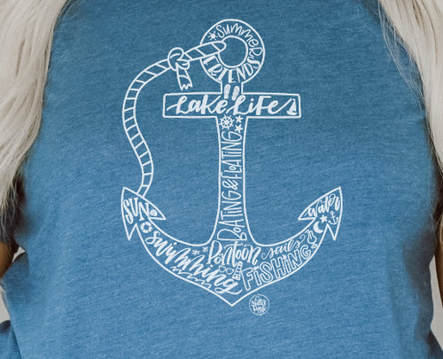 Lake Life Anchor Tee