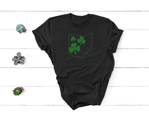 Triple Shamrocks Ohio Tee - Little Chicago Clothing Co.