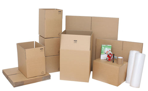Medium Moving Kit / Pack with Cardboard Moving Boxes and Packing Accessories