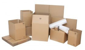 Small Moving Kit / Pack with Cardboard Moving Boxes and Packing Accessories
