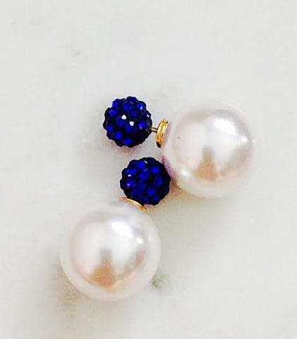 Pearly Blue Double Studs